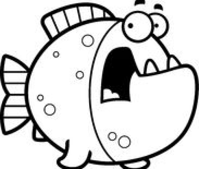 A Cartoon Illustration Of A Piranha Looking Scared Vector Illustration