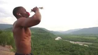 Image result for black men drinking water