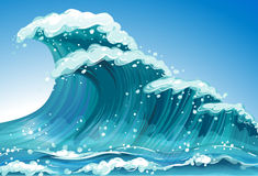 Single wave Stock Photo