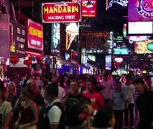 Walking Street Is Red Light District With Many Restaurants Go Go Bars