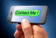 Contact Me Cell Phone Royalty Free Stock Image - 32221686