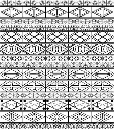 African Tribal Art Pattern Royalty Free Stock Image