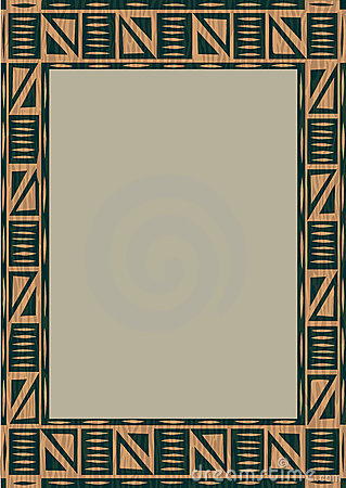 African Wooden Frame Stock Photo Image 8047640