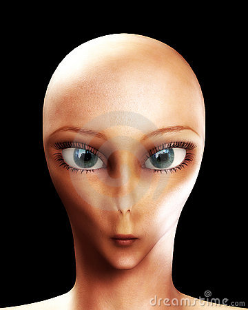 Alien Face Stock Photography Image 3318392