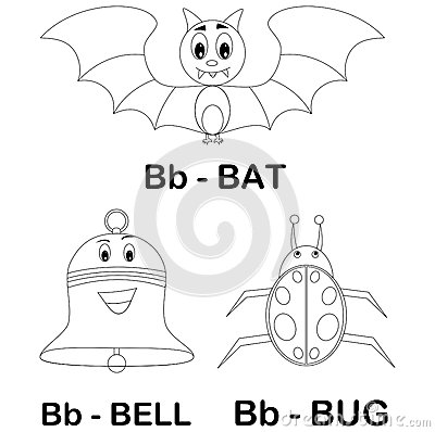 animal alphabet b coloring page royalty free stock images image