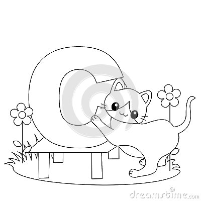 animal alphabet i coloring page royalty free stock images image