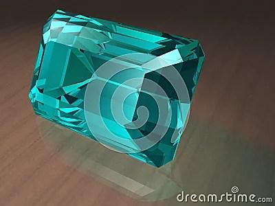 Aquamarine Gemstone Royalty Free Stock Images Image 811449