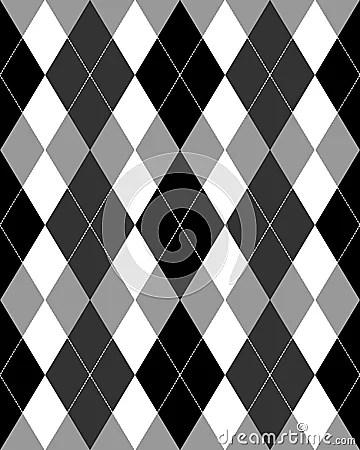 Argyle Pattern Grayscale EPS Stock Photo Image 15766550