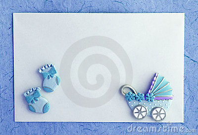 Baby Boy Announcement Card Royalty Free Stock Images Image 15592399