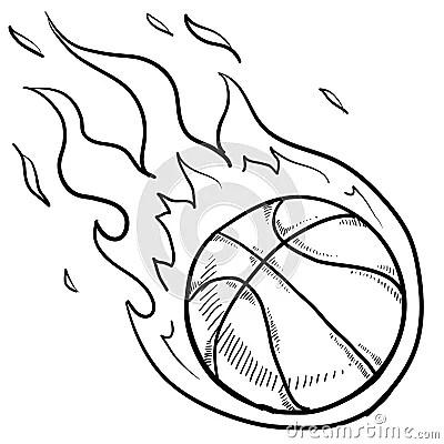 Basketball Playoffs Sketch Royalty Free Stock Photo