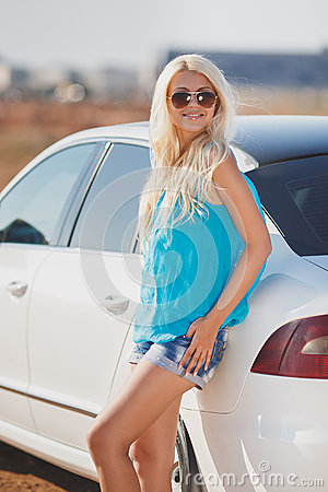 Beautiful Young Sexy Woman Near A Car Outdoor Stock Photo Image 43999865