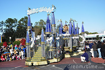 Beauty And The Beast Parade Float In Disney World