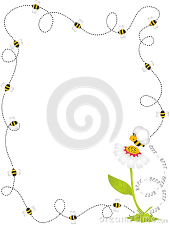Bee Border Frame Royalty Free Stock Photo Image 34493795