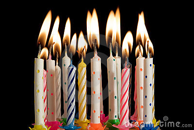 Birthday Cake Candles Stock Images Image 1920284