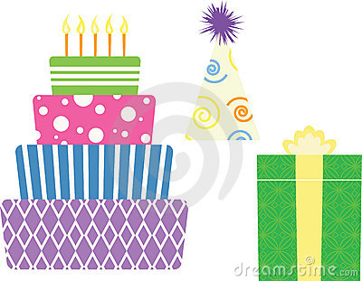 Birthday Symbols Royalty Free Stock Photo Image 10234215
