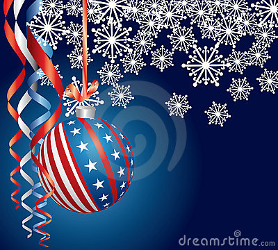 Blue Patriotic Christmas Royalty Free Stock Photos Image