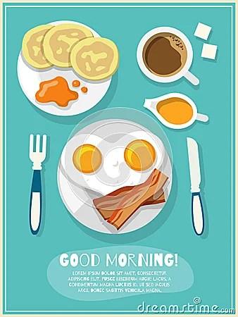 Breakfast Icon Poster Vector Illustration CartoonDealer