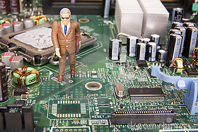 Businessman in computers