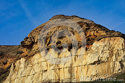 The chalk cliffs beneath Castle Hill, Newhaven Sussex