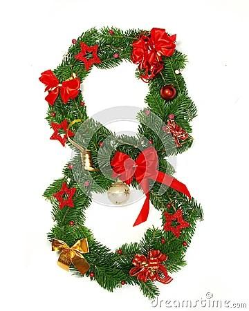 Christmas Alphabet Number 8 Stock Photo Image 16640080