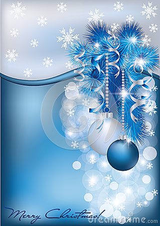 Christmas Blue Silver Card Stock Image Image 27196631
