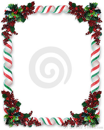 Christmas Border Ribbon Candy Stock Image Image 7512301