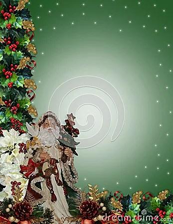 Christmas Border Victorian Santa Royalty Free Stock Photo Image 7512315