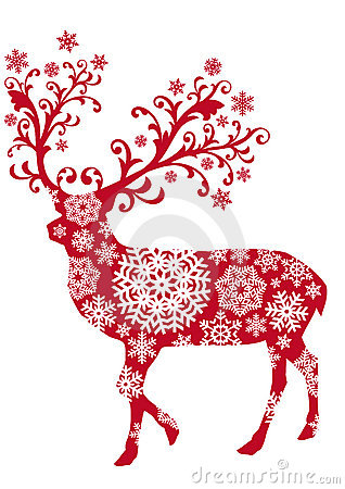 Christmas Deer Vector Royalty Free Stock Photography