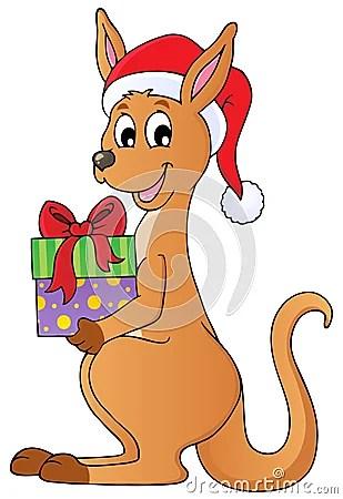 Christmas Kangaroo Theme Image 1 Royalty Free Stock