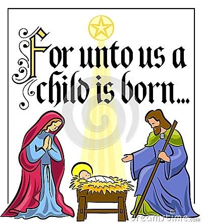 Christmas Nativity Verseeps Royalty Free Stock Photo