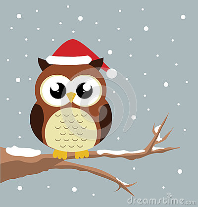 Christmas Owl Stock Vector Image 63214709