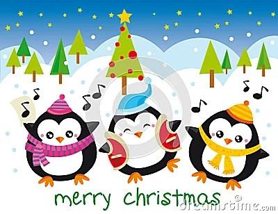 Christmas Penguins Stock Photos Image 11885653