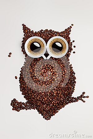 Coffee Owl Stock Photos Image 37034873