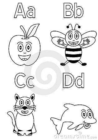 Coloring Alphabet For Kids 1 Stock Photos Image 8933033