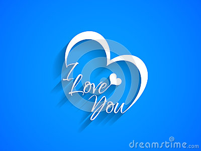 Download Creative Text Design Of I Love You On Blue Color ...