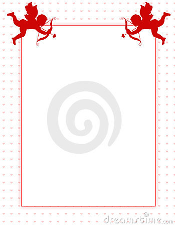 Cupid Valentines Day Background Border Royalty Free