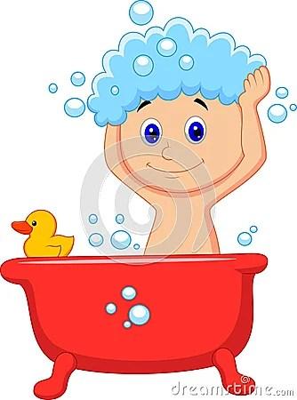 Cute Cartoon Boy Having Bath Royalty Free Stock Image Image 33242956