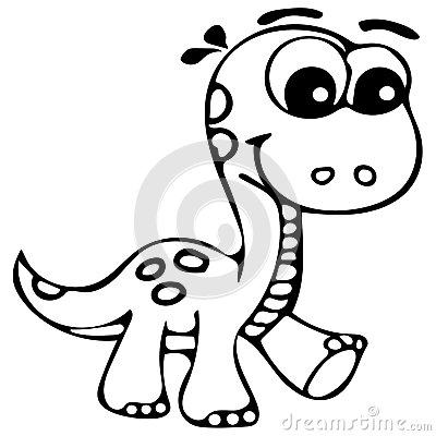 stock image cute dinosaur coloring pages image 66258311