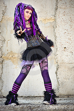 Cyber Gothic Girl Royalty Free Stock Image Image 11126336