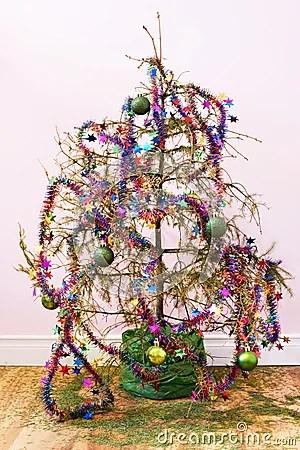 Dead Christmas Tree Royalty Free Stock Photos Image