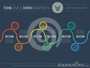Diagram Of Tendencies And Trends Infographic Timeline Chart Pr Stock Vector  Image: 67786182
