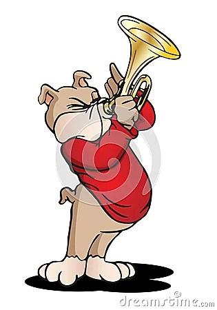 Dog Playing Trumpet Stock Image Image 19184861