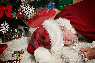 Drunk Santa Claus Stock Images Image 3375144