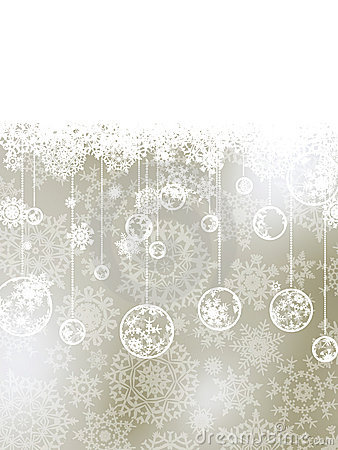 Elegant Christmas Background With Baubles EPS 8 Royalty