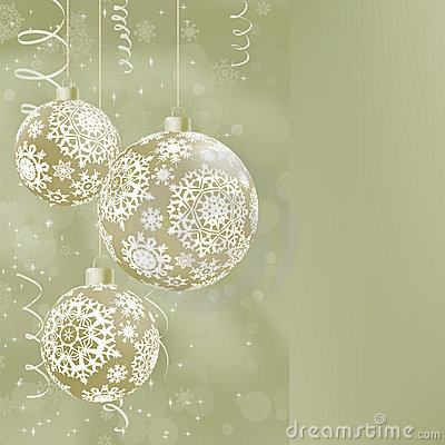 Elegant Christmas Balls On Abstract EPS 8 Stock Images