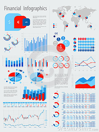 Financial Infographic Set With Charts Royalty Free Stock Photos Image 26015068