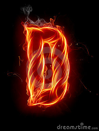 Fire Letter D Royalty Free Stock Photos Image 7197608