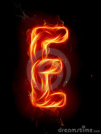 Fire Letter E Royalty Free Stock Image Image 7197616