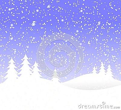 Fondo De La Navidad Nevado Fotos De Archivo Imagen 6058933