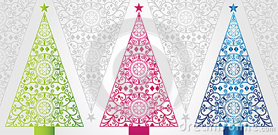Funky And Elegant Christmas Trees Stock Images Image